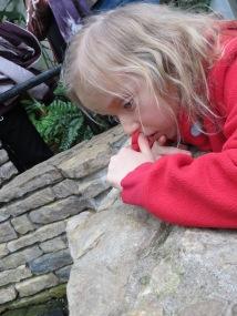 "We've told Katya that fish go ""goop goop"". Katya obligingly says ""puh, puh."""