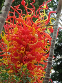 Chihuly glass. His stuff is amazing! I explained to Katya that it was like a picture, only you can touch it. Tiny steps!