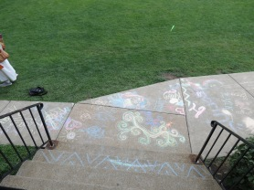 Awsome chalk drawings on the way out.