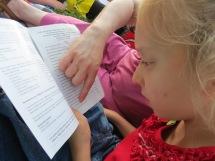 Katya is learning to follow a program.