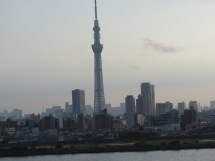 The Tokyo Tower, from our bus window